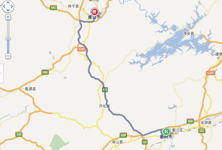 从衢州到黄山现在是很方便的,衢州到黄山市的距离约为180公里,全程仅需2小时,我站整理大致线路如下,供大家参考: 1. 衢州市内驾车方案 1) 从起点向正西方向出发,沿荷三路行驶550米,过右侧的东方商厦荷三店约250米后,右转进入双港东路 2) 沿双港东路行驶220米,左后方转弯进入G320 3) 沿G320行驶2.