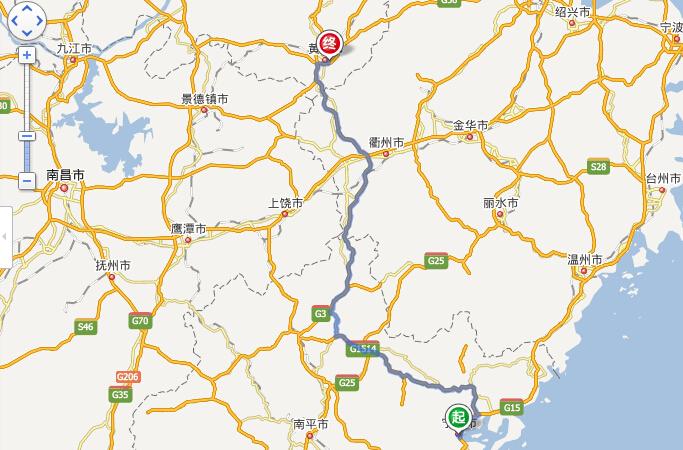 1) 从起点向正西方向出发,沿署前路行驶450米,右前方转弯进入环岛 2) 沿环岛行驶40米,在第1个出口右前方转弯进入G104 3) 沿G104行驶7.6公里,右前方转弯进入S201 4) 沿S201行驶3.0公里,左前方转弯 5) 行驶20米,左前方转弯 6) 行驶20米,直行 7) 行驶290米,直行 8) 行驶130米,朝福鼎方向,稍向右转 2.