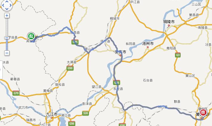 英山旅游风景地图