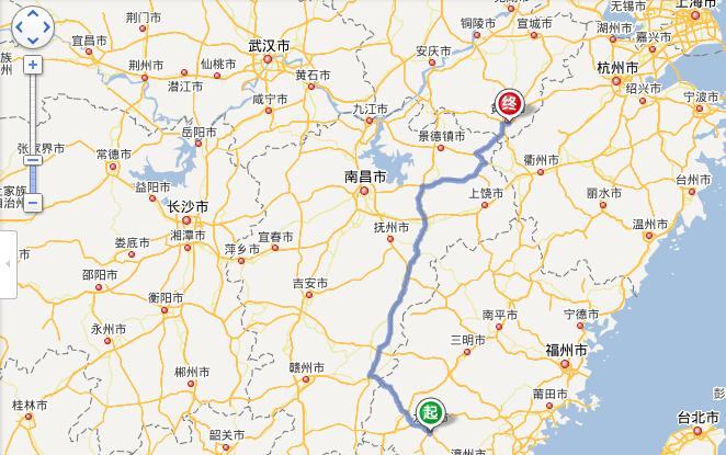 龙岩到黄山市的距离约为760公里,全程仅需8小时,我站整理大致线路如
