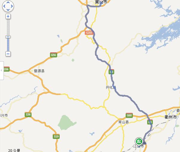 江山到黄山市的距离约为155公里,全程仅需2小时,我站整理大致线路如